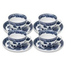 Botanic Blue Tea Set - HIC Harold Import Co. YK-321 HIC Willow Cups and Saucers Set