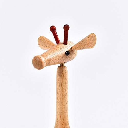 MQW Puppet Giraffe, Home Decoration Art Gift, Handmade Wooden Home Decoration, Creative Desktop Decoration Gift (21cm High) Delicate and Beautiful