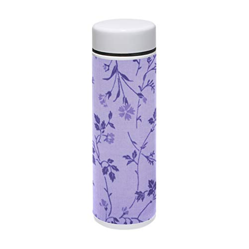 Water Bottle Lavender Floral Print Travel Mug Vacuum Insulated Stainless Steel Thermos Leak Proof Coffee Mugs 7 oz/220ml