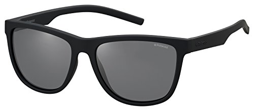Polaroid Sunglasses Pld6014s Polarized Square Sunglasses, Rubber Black/Gray, 56 - Glasses Polaroid