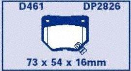 EBC Brakes DP2826 Greenstuff 2000 Series Sport Brake Pad