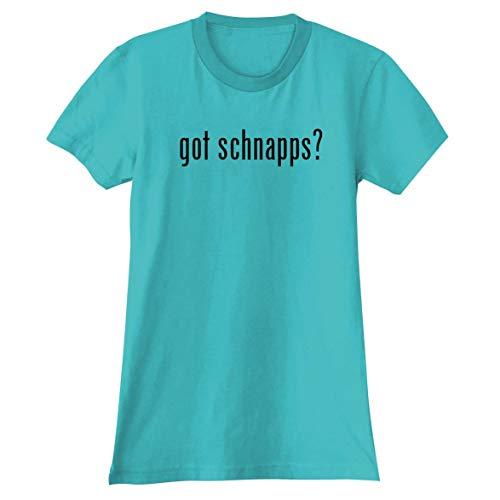 The Town Butler got Schnapps? - A Soft & Comfortable Women's Junior Cut T-Shirt, Aqua, Medium
