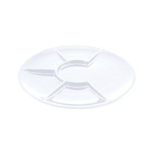Swissmar F66105 Round Raclette/Fondue Plates, White, Set of 4