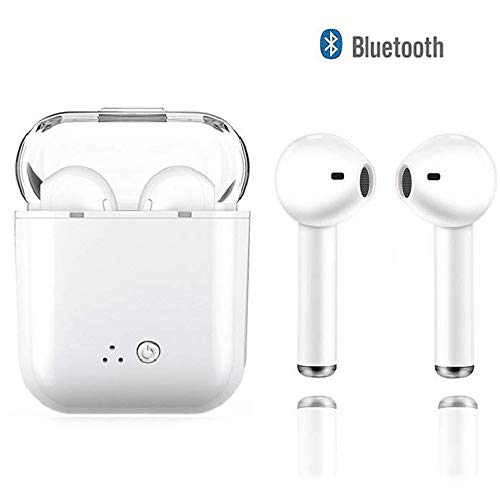 Bluetooth Headset,Wireless Earbuds Stereo Earphone Cordless Sport Headsets Compatible with Apple iPhone 8 X 7 7 Plus 6S 6S Plus, and Samsung Galaxy S7 S8 S8 Plus, Android Smart Phones