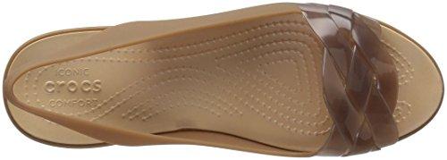 Crocs Womens Isabella Slingback Piatto Bronzo / Oro