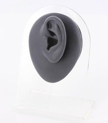(Silicone Left Ear Display - Black Body Bit Version 1)