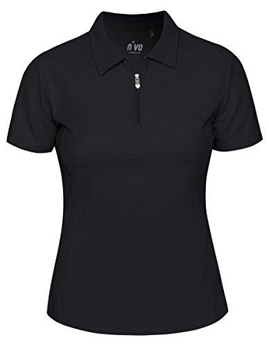 (Nivo Short Sleeve Essential Polo (Small, Black))