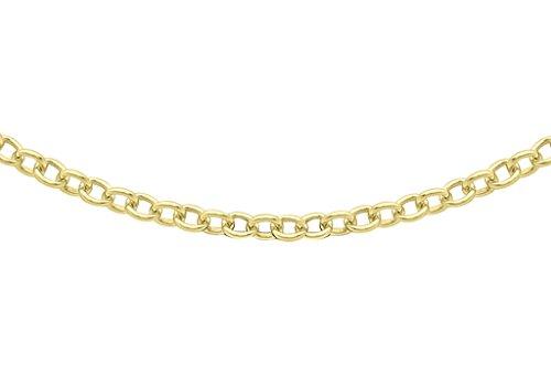 """Jewellery World Bague en or jaune 9carats 40Trace Chaîne 46cm/18"""""""