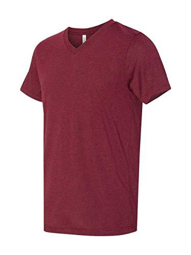 (Bella + Canvas 3.4 Oz. Short-Sleeve V-Neck Triblend (3415C) -Cardinal T -L )