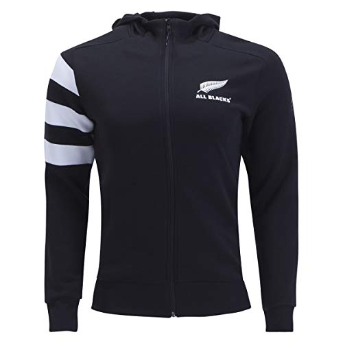 adidas All Blacks Rugby Full-Zip Hoody, Black, Medium
