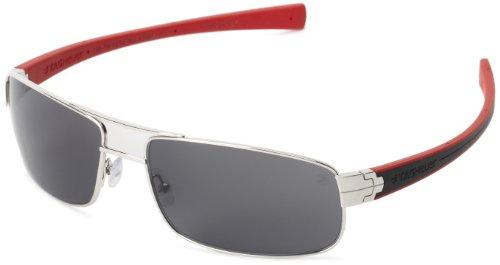 Tag Heuer LRS 254 102 Rectangular Sunglasses,Black & Red,61 - Milano Sunglasses