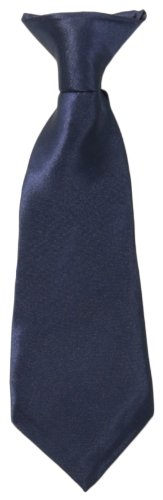 American Exchange Little Boys' Little Solid Clip Tie, Navy, 8 - Apparel Tie American
