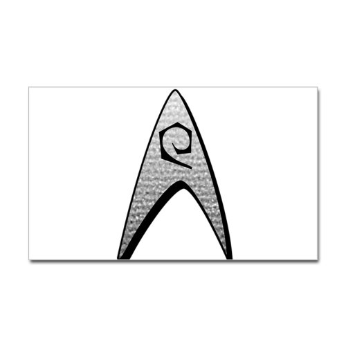 CafePress Star Trek Engineer Badge Insignia Sticker Rectang Sticker Rectangle - Standard