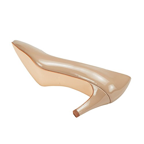 ARDOR Party High Heel Women's Natural Pumps Ladies JENN Mid On Pointed Slip Toe Dress Heels 7BdxEwqE4