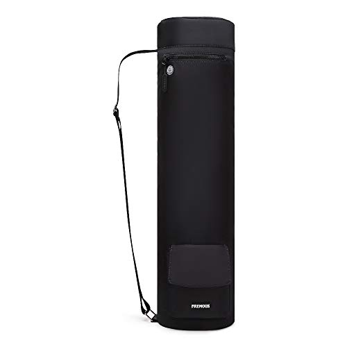 Fremous Yoga Mat Bag,Full-Zip Exercise Yoga Mat Carry Bag for Women and Men - Double Storage Pocket,Easy Access Zipper, Adjustable Shoulder Strap and Handle,Fits Most Mats