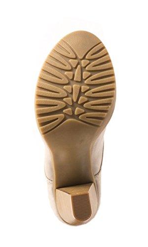 Elara Damen Stiefelette | Ankle Boots | Blockabsatz Schnürer gris