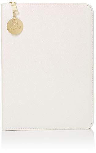 Graphique White Glitter Folio Organizer with Oh Yeah Gold Charm 8.5