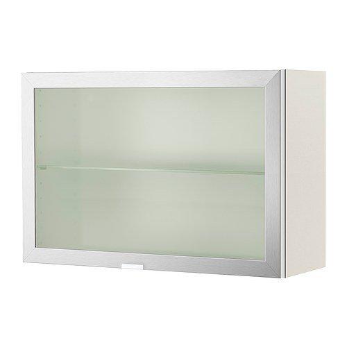 IKEA LILLANGEN -Wandschrank mit 1 Tür weiß Aluminium - 60x21x40 cm ...