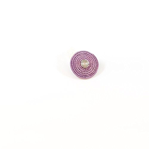 (Baskets of Africa Fair Trade Sisal Classic Disk Elastic Band Ring w/Spiral, Lilac, SJR01LL)