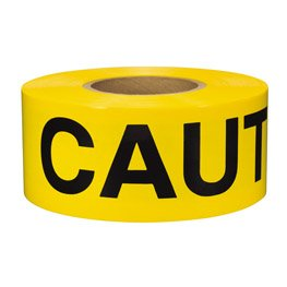 3 in. x 1000 ft Yellow Caution Tape - 1.5 mil. Thickness