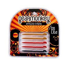 gear-monkey-stylus-5-pack-various-colors-nintendo-ds-lite-gearmonkey