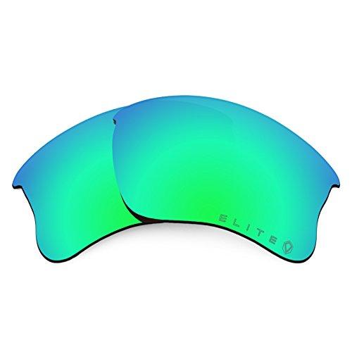 Revant Polarized Replacement Lenses for Oakley Flak Jacket XLJ Elite Rogue Green MirrorShield Asian - Eyewear Rogue