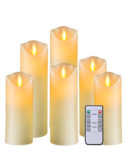 5PLOTS Flameless Candles with Remote and Timer - Set of 6 (H5