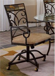 Hillsdale Furniture Mosaic Dining Chair with Casters - Set of 2