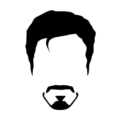 CrazyWEN-Sticker- Tony Stark Face Vinyl Decal, Ironman 2, Movie, Avengers, Window Decal, Wall Decal, Vinyl Sticker -