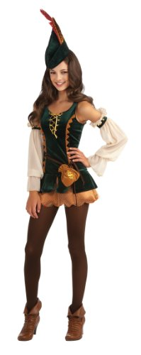 Robin Hood And Maid Marian Costumes (Rubie's Drama Queens Tween Forest Bandit Costume - Tween Medium (2-)