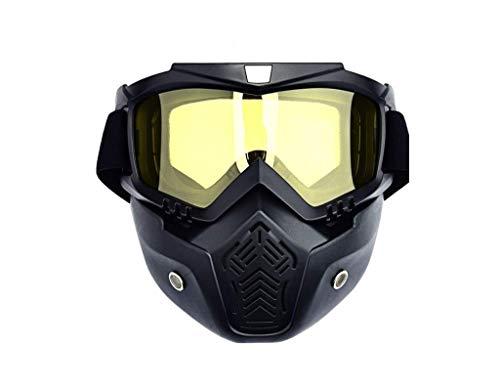 Primo Mens Snowboard - Primo Supply Full Armor Snowboard Ski Goggle + Face Mask l Protection Cover l Anti-Fog l UV Protection (Yellow)