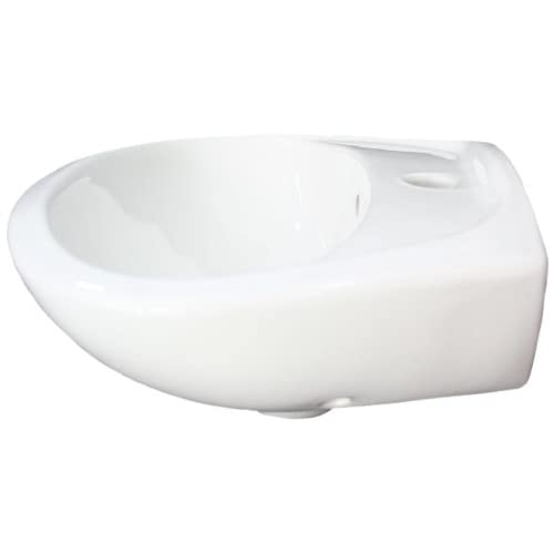 ALFI brand AB106 Porcelain Wall Mount Basin with Overflow, Small, White durable modeling