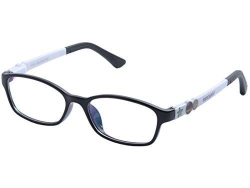DEDING Kinder Acetat optische Brillenfassung mit Federscharnier (schwarz weiß)