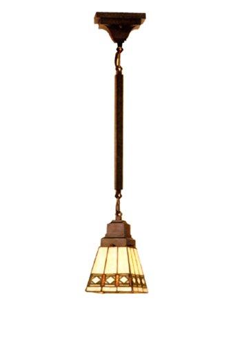 "Meyda Home Indoor Decorative 5""Sq Diamond Mission Mini Pendant Lighting Ceiling Fixture"