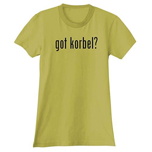 (The Town Butler got Korbel? - A Soft & Comfortable Women's Junior Cut T-Shirt, Yellow, X-Large)