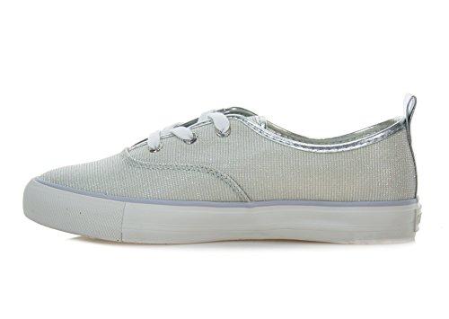 Glitter Col Sneakers Donna Mod BianzjRDVNR2e5 Scarpe Active FL2LILFAM12 Guess Lila Fabric F7x4H