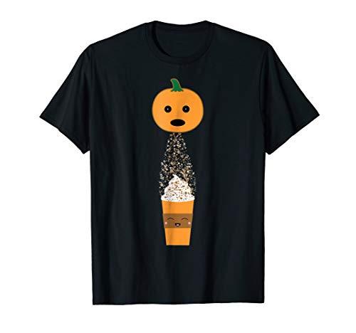 Pumpkin Pooping Spice Latte Funny Halloween & Fall T-Shirt -