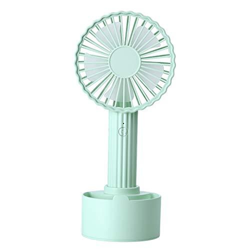JonerytimeCactus Shape Portable USB Cooling Fan Handheld Mini Fan with 3 Adjustable Speeds (Green)
