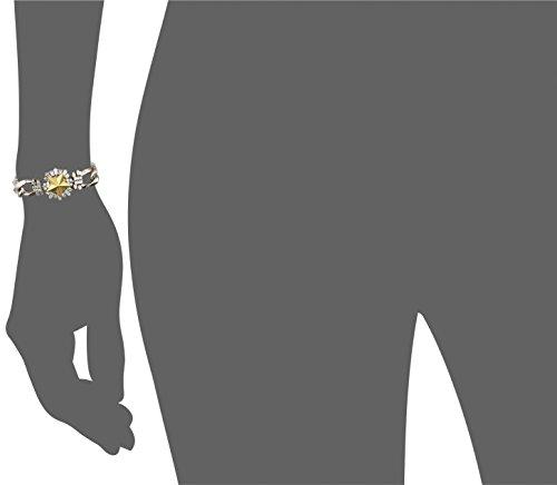 Iosselliani Bracelet Laiton Carré Zircon Transparent Femme