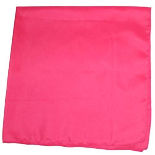 Solid 100% Cotton Unisex Bandana - 12 Pack Hot Pink 22 -