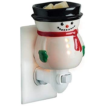 CANDLE WARMERS ETC Pluggable Fragrance Warmer- Decorative Plug-in for Warming Scented Candle Wax Melts and Tarts or Essential Oils, Frosty