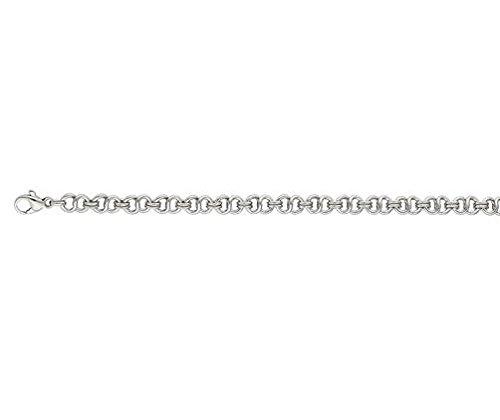 Or 9ct Jaune et Blanc Athénienne 140,6cm/Collier 40cm