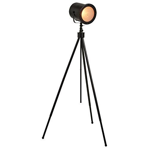 Stone & Beam Vintage Spotlight Floor Lamp With LED Bulb, 60″H, Black