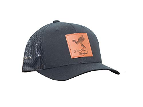 Hunting and Fishing Depot Wood Duck Leather Patch Trucker Hat | East Coast Waterfowl