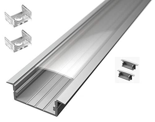 Profili In Alluminio Da Incasso Tl1204 In Barre Da 2 Mt Per Strisce