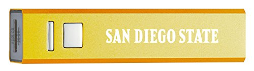 - San Diego State University - Portable Cell Phone 2600 mAh Power Bank Charger - Gold