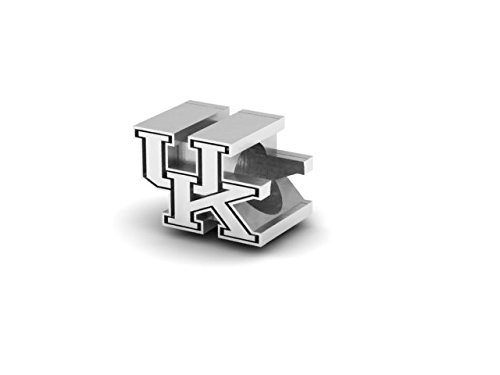 University Charm - University of Kentucky Wildcats UK Sterling Silver Jewelry by Dayna Designs (3D Charm Bead)