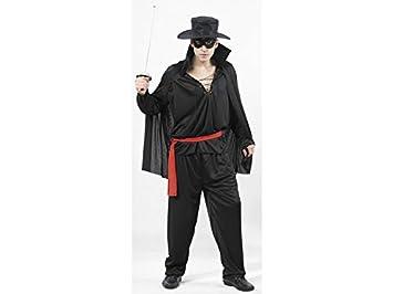 JUGUETILANDIA Disfraz Bandido Enmascarado Hombre Talla XL