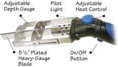 Heat Dial Hot Knife Craft Cutter, 5 1/2'' Blade, 130 Watt