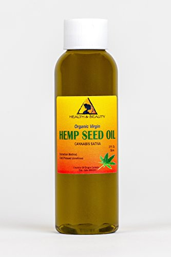 Hemp Seed Oil Organic Unrefined Raw Virgin Cold Pressed Premium Quality Natural Pure 2 (Best H&b Oils Center Hemp Oils)